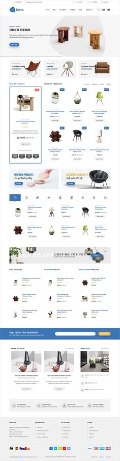 Estore is a modern design 4in1 responsive #Opencart theme for selling #exterior #furniture, decoration products #eCommerce websites download now➩ https://themeforest.net/item/estore-responsive-opencart-theme/19333148?ref=Datasata