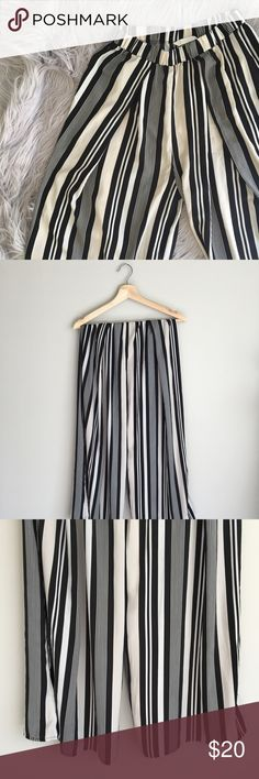 H&M Wide Leg Pants • NO trades. I am just looking to sell. • I do not accept any forms of payment outside of the Poshmark app. • My prices are firm; however, I offer a discount on bundled items at all times. • This is a pet friendly home. I have two beautiful Siberian kitties. • For sizing references, I am 5'2 and roughly 115 pounds. My bust is 32C. • Thank you for shopping my closet. Please enjoy! 🌻   Comfortable satin wide leg pants, like new. H&M Pants Wide Leg