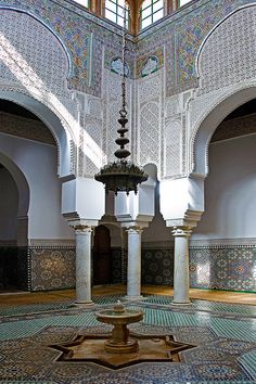Morocco Mausoleum of Moulay Ismail Moroccan Design, Moroccan Decor, Moroccan Style, Islamic Architecture, Amazing Architecture, Art And Architecture, Arabic Design, Moroccan Interiors, Marrakesh