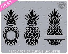 SVG PINEAPPLE SVG For cutting machines Cricut Silhouette