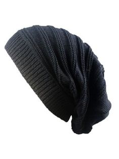 Warm /& Stylish Winter Hats Black Thick MACA Lithuania Unisex Slouch Beanie Hats