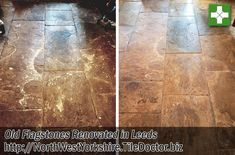I was contacted by the owner of this property in Leeds about renovating their old Flagstone floor. The couple who owned the house both worked long hours so after discussing the floor at length over the phone and after reviewing several photographs they emailed me to ask me to go ahead and start work. Northwestyorkshire.tiledoctor.biz/restoring-a-flagstone-tiled-kitchen-floor-in-leeds