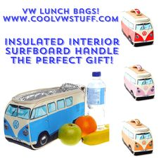 Check out these brand new VW Bus lunch bags available at www.coolvwstuff.com