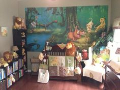 Lion King themed Baby Room - Interior Paint Colors 2017 Check more at http://www.chulaniphotography.com/lion-king-themed-baby-room/