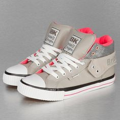 British Knights Roco PU Glitter Sneakers Light Grey/Neon Pink