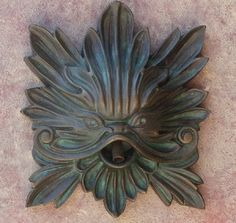 Bronze Catfish Face Small Tile Fountain Spout www.finegardenproducts.com