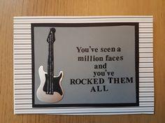 Guitarist Birthday card with Bin Jovi lyric £3.50