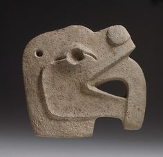 Animal Head Hacha, 4th–10th century - Guatemala, Mesoamerica - Culture: Maya - Stone