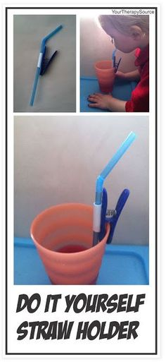 Adapted Straw! - Pinned by @PediaStaff – Please Visit ht.ly/63sNtfor all our pediatric therapy pins