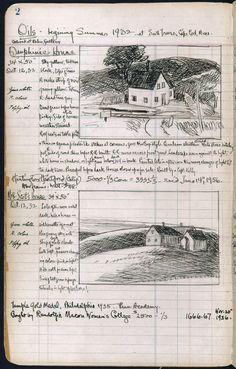 Edward Hopper's sketchbook