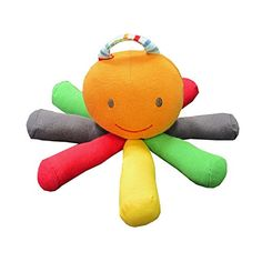 Under The Nile Stripes and Brights Scraptopus Toy in Multi Color -- Check this awesome product by going to the link at the image.Note:It is affiliate link to Amazon.