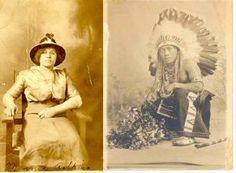 Minnie Adkins (Chickahominy) and her husband, Samuel Owen (Mohawk) - circa 1920