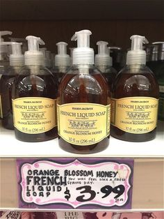 Our 8 Favorite Trader Joe's Beauty Products Fall Recipes, Wine Recipes, Best Trader Joes Products, Orange Blossom Honey, French Soap, Liquid Hand Soap, Make Me Up, Spa Treatments, Spring Day