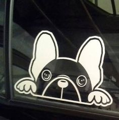 The Axie B French Bulldog Window Decal by MiniFrench on Etsy