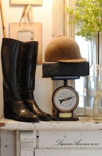 LaurieAnna's Vintage Home  equestrian decorating  #equestrian