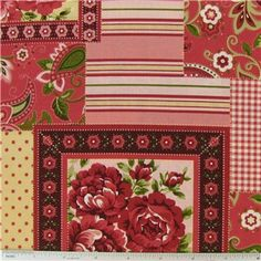 """Cottage Rose Patchwork Fabricis 44"""" - 45"""" wide and 100% cotton.    CARE INSTRUCTIONS - Machine Wash, Warm; Tumble Dry; Remove Promptly.    Available in 1-yard increments. Average bolt size is approximately 7 yards. Price displayed is for 1-yard. Enter the total number of yards you want to order."""