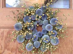 Organic Wreath. Dried Flower Wreath. by SoulLovin on Etsy, $43.00