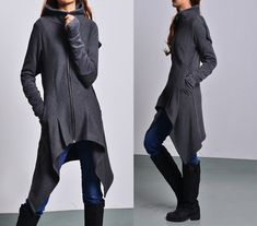 Wanderer thick cotton fleece jacket / by idea2lifestyle on Etsy