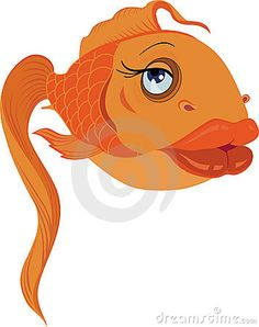 Glamour gold fish in love