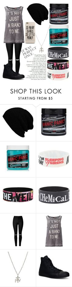 """""""Not just a band"""" by musiclover135 ❤ liked on Polyvore featuring ONLY and Converse"""