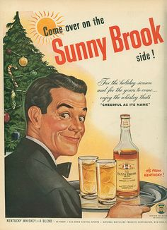 1947 Sunny Brook Kentucky Whiskey ad - latent homosexual themes