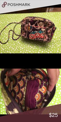 Vera Bradley cross body Chain link cross body in plum crazy Vera Bradley Bags Crossbody Bags