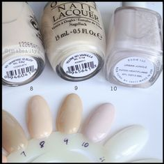 OPI You're so Vain-illa Comparison. 1-OPI My Vampire is Buff. 2-OPI You're So Vain-illa. 3.-Essie Urban Jungle. For swatches of the full OPI Coke Collection, click thru to Beautygeeks!