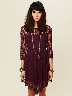 $128.00 floral mesh lace dress, free people