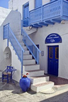 beautiful blue and white - Milos island, Greece: