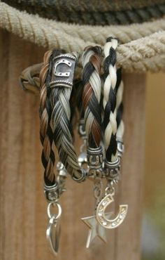 (Source: countrysoulmates) I want one like this with my horses hair, that'd be cool
