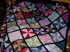 the quilt I made out of scrubs donated scrubs. a great recycle project