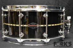 Fork's Drum Closet | Craviotto 6.5x14 Maple Shell in Blackwash Lacquer
