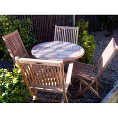 Image of 4 Seater 80cm Round Folding Set with Chairs and Armchairs