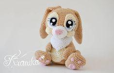Crochet PATTERN No 1730 Miss Bunny crochet pattern by Krawka