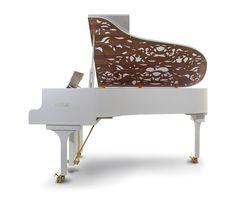 White Modern Grand Piano Beautiful I would love a white piano someday!