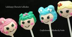 Lalaloopsy Character Lollicakes    Contact info: confectionatelollicakes@gmail.com    www.confectionatelollicakes.com  Follow me on Facebook-Confectionate Lollicakes by Yvette