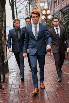 New suits just dropped from our new season campaign shoot in Vancouver with KJ Apa, Linc Lewis & Chris Black Kj Apa Riverdale, Riverdale Archie, Riverdale Cast, The Cw, Apa Style, Latest Clothes For Men, Archie Andrews, Luke Perry, Famous Men