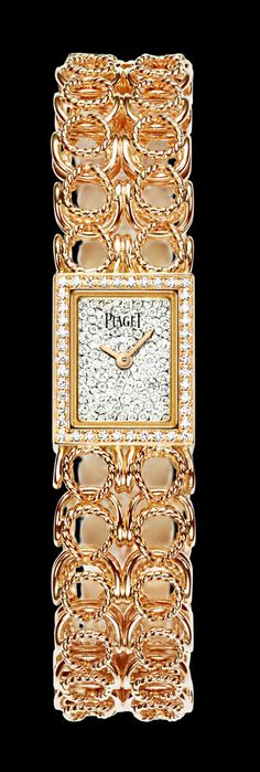 Piaget Limelight Couture Précieuse cuff watch.