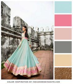 Aqua, Pink and Gold – Indian Wedding Color Inspiration