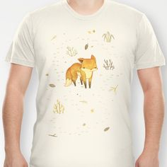 Lonely Winter Fox T-shirt by Teagan White - $18.00