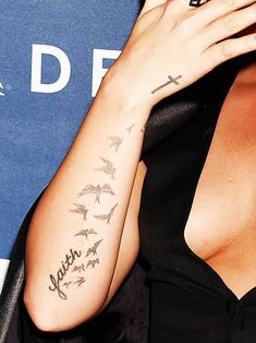 Demi Lovato Tattoo Birds