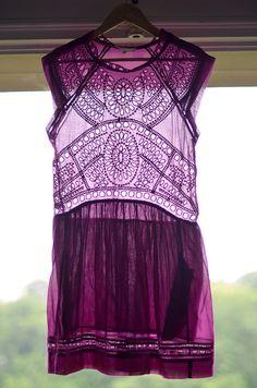 Pretty little purple boho frock by Isabel Marant. Gorgeous.