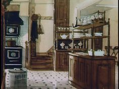 Set Designers Illustration of kitchen from Pollyanna The Effective Pictures We Offer You About Disne Stairs In Kitchen, Basement Kitchen, Victorian Kitchen, Victorian Homes, Disney Rooms, Disney Disney, Mansion Kitchen, Disney Home Decor, Cozy Cottage