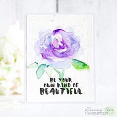 Happy Saturday!! There's a new challenge over at @inspiredbyallthelittlethings and today I decided to try my hand at watercoloring my own rose! Still needs a lot of practice but I was so inspired by this week's photo, I thought it was time to give it a go. Hope you come play with us this week!  #inspiredbyallthelittlethings #challenge #watercolor #rose #beunique #cardmaking #handmadecard #altenew