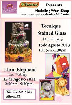 Monica Muñante Classes in Camila's Cake supply : 305-288-8883