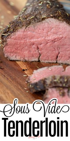 Follow these easy steps to make this sous vide beef tenderloin recipe. Sous vide cooking lets you cook beef tenderloin perfectly, every time. Edge-to-edge consistent doneness, with no chance of overcooking, will take the fear out of cooking this expensive cut of beef. Whole Beef Tenderloin, Beef Tenderloin Recipes, How To Cook Beef, Sous Vide Cooking, Recipes For Beginners, Vegetable Side Dishes, Main Dishes, Stuffed Peppers, Meals