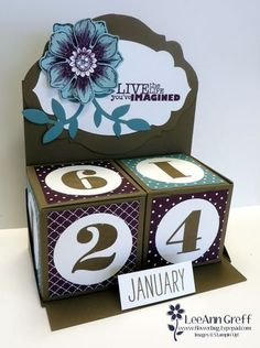 Get a free Perpetual Calendar project kit free with an online order this week.  Details on my blog. www.flowerbug.typepad.com