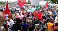 Drapeau du #Maroc, lors de la manifestation pro-Palestine aux Pays-Bas (Hollande) .. pic.twitter.com/ez1ufnggfD
