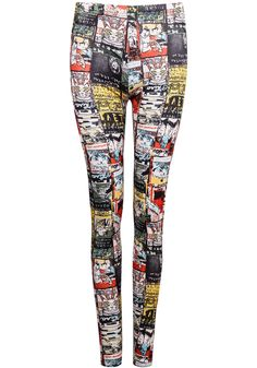 Shop Yellow Slim Comic Print Leggings online. Sheinside offers Yellow Slim Comic Print Leggings & more to fit your fashionable needs. Free Shipping Worldwide!