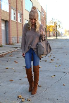 Free People Sweater[[MORE]]  sweater (wearing size small) | boots | bag | hat  Fashion By Somewhere,Lately